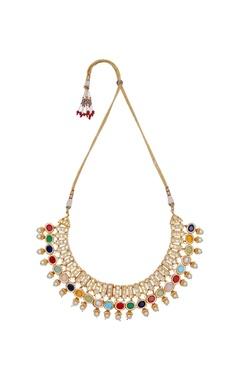 Just Shradha's Multi-faceted semi-precious stones necklace