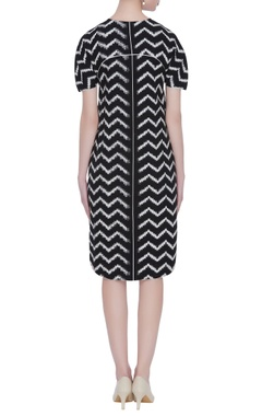 Chevron ikat short dress with pockets