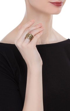 Intertwined rope statement ring