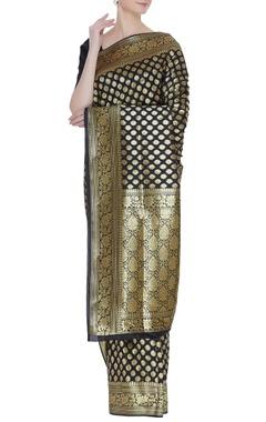 Handwork & zari banarasi woven sari & unstitched blouse