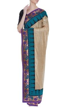 Tussar banarasi sari with unstitched blouse