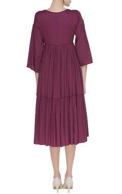 Pleated back handspun chanderi dress