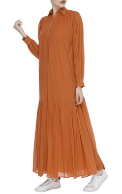 Gather detail maxi dress
