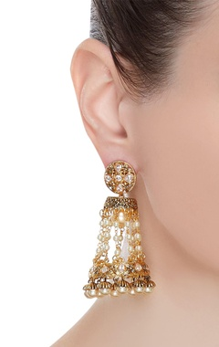Jhumka drop earrings