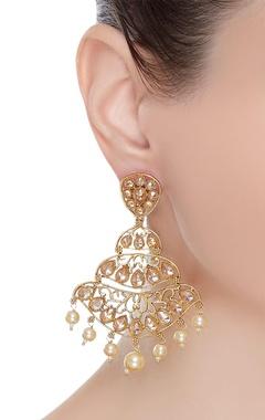 Uncut chandelier earrings