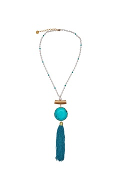 Pearl & tassel beaded pendant necklace
