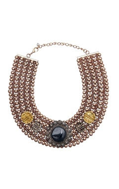 Antique pendant statement necklace