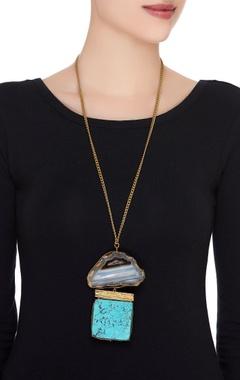 Long statement pendant necklace