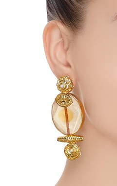 Pearl detail statement earrings