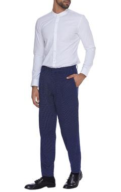 Dev R Nil - Men Micro print cotton trousers