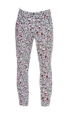 Printed khadi cotton trousers