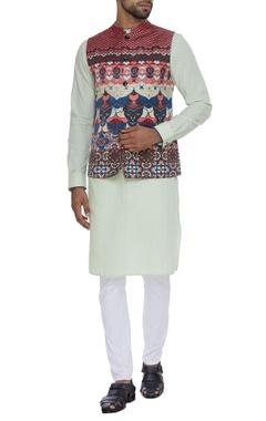 Printed nehru jacket