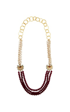 POSH By Rathore Maroon beads necklace