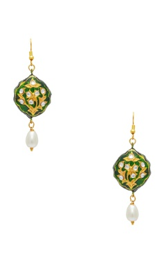 POSH By Rathore Enameled necklace with earrings