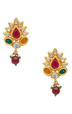 POSH By Rathore Metal necklace with earrings