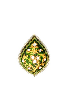 POSH By Rathore Green enameled ring