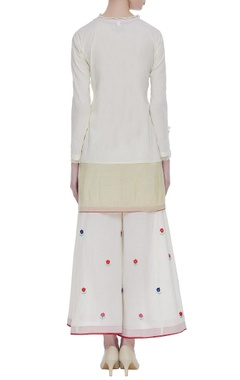Cotton tassel short kurta set