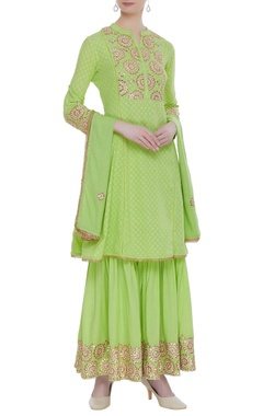 Cotton embroidered kurta set