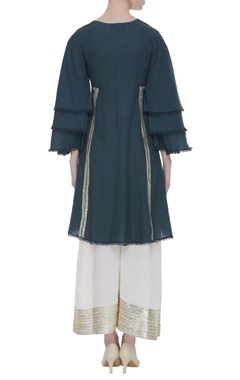 Cotton gota embroidered kurta set