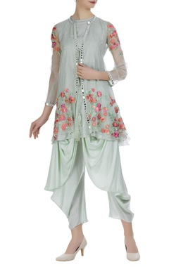 Aditi Somani Embroidered jacket with inner and dhoti