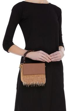 Embellished leather crossbody bag