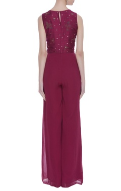 Embroidered bodice jumpsuit