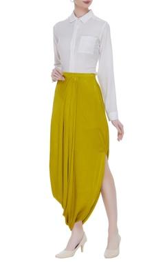 Nachiket Barve Side drape skirt