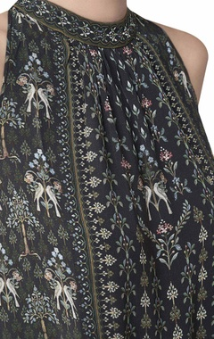 Halter neck ranthambore forest printed tunic