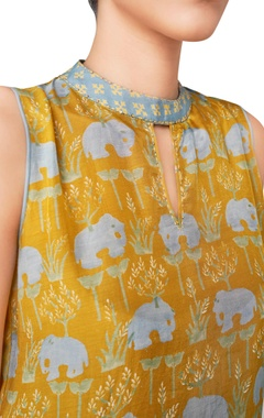 Jungle inspired elephant printed kurta