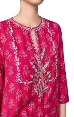Wildflower & vine ranthambore forest inspired kurta