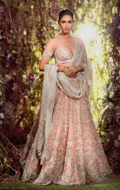 Resham thread & pearl lehenga set