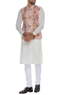 NAUTANKY - Men Printed nehru jacket