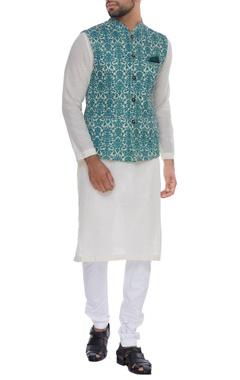 NAUTANKY - Men Printed embroidered nehru jacket