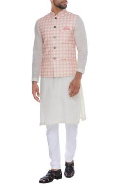 NAUTANKY - Men Checkered print nehru jacket