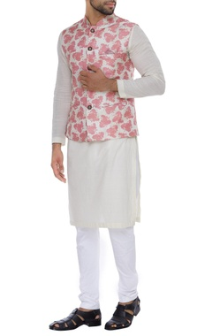 NAUTANKY - Men Printed nehru jacket with button placket