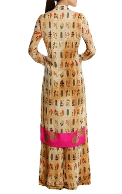 Burning garden' printed kurta set