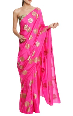 Masaba Silk tribal vase printed sari with blouse piece
