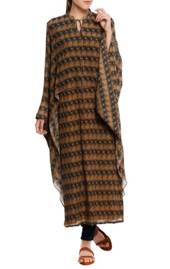 Masaba Island breeze' printed cape kurta