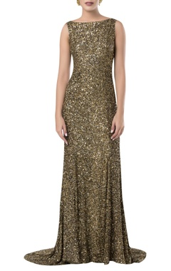 ROCKY STAR Sequin embroidered gown