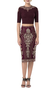 Rocky Star Pearl embroidered skirt