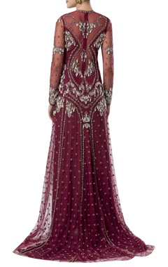 Pearl hand embroidered gown