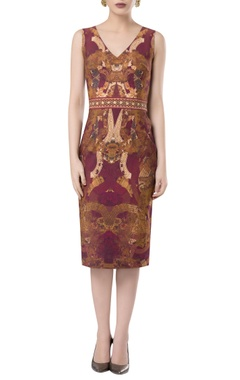 ROCKY STAR Printed sheath midi dress