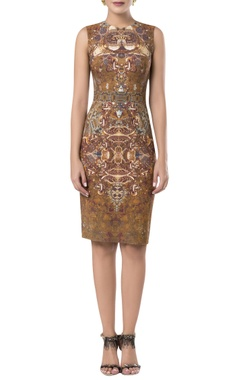 ROCKY STAR Printed fitted midi dress