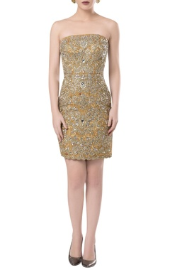 ROCKY STAR Hand embroidered short dress