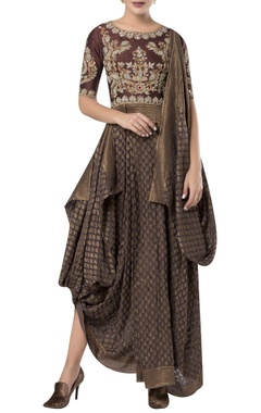 ROCKY STAR Draped embroidered tunic