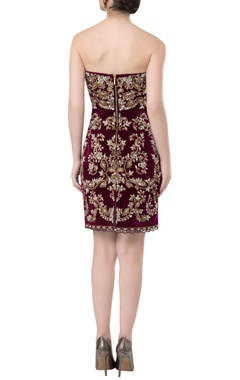 Hand embrodiered short dress