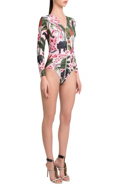 Shivan and Narresh Maillot with front zip detailing