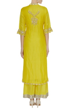 Pearl & zardozi embroidered kurta set