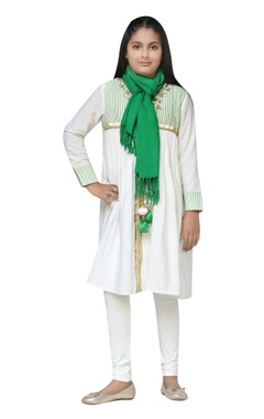 Chiquitita kids couture by Payal Bahl Chanderi embroidered kurta set