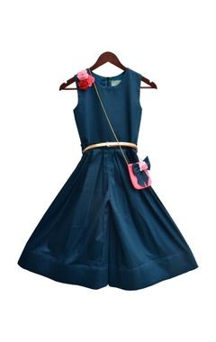 Satin jumpsuit with flower detailing